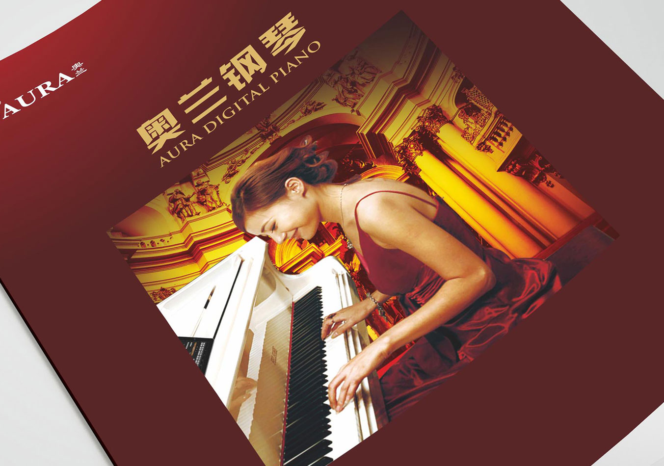 广州画册设计 奥兰电钢琴 企业画册设计